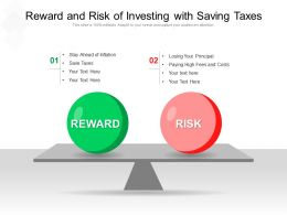 Reward And Risk Of Investing With Saving Taxes