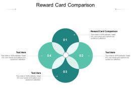 Reward Card Comparison Ppt Powerpoint Presentation Pictures Graphics Example Cpb