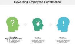 Rewarding Employees Performance Ppt Powerpoint Presentation Show Cpb