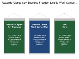 Rewards Aligned Key Business Freedom Decide Work Carried Out