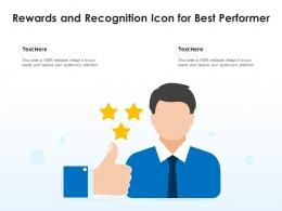 Rewards And Recognition Icon For Best Performer