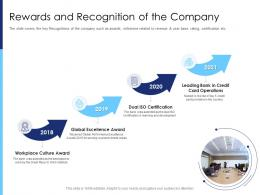 Rewards And Recognition Of The Company Raise Funds After Market Investment Ppt Tutorials