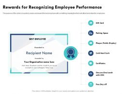 Rewards For Recognizing Employee Performance Colleagues Ppt Powerpoint Presentation File Slideshow