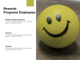 Rewards Programs Employees Ppt Powerpoint Presentation Outline Graphics Cpb