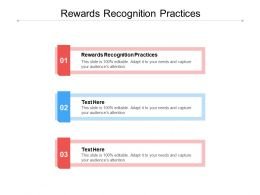 Rewards Recognition Practices Ppt Powerpoint Presentation Layouts Rules Cpb