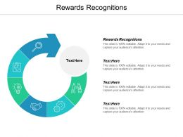 Rewards Recognitions Ppt Powerpoint Presentation Ideas Styles Cpb