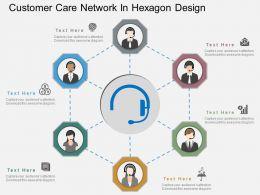 rf_customer_care_network_in_hexagon_design_flat_powerpoint_design_Slide01