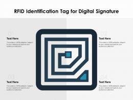 RFID Identification Tag For Digital Signature