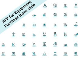 RFP For Equipment Purchase Icons Slide Ppt Powerpoint Presentation Summary Maker