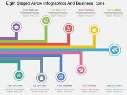 rg Eight Staged Arrow Infographics And Business Icons Flat Powerpoint Design