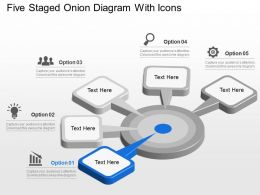 Rh Five Staged Onion Diagram With Icons Powerpoint Template