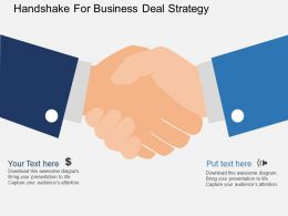 Rh Handshake For Business Deal Strategy Flat Powerpoint Design