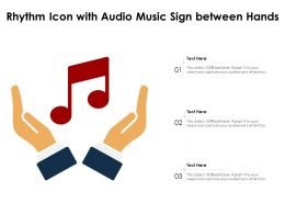 Rhythm Icon With Audio Music Sign Between Hands