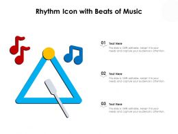 Rhythm Icon With Beats Of Music
