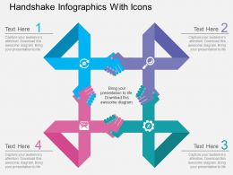 Ri Handshake Infographics With Icons Flat Powerpoint Design