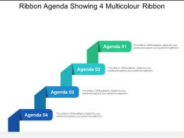 Ribbon Agenda Showing 4 Multicolour Ribbon