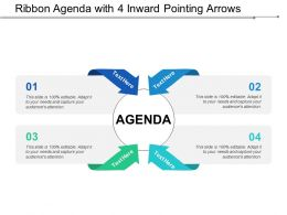 Ribbon Agenda With 4 Inward Pointing Arrows