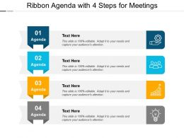 Ribbon Agenda With 4 Steps For Meetings