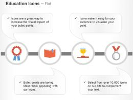 ribbon_book_trophy_on_podium_medal_ppt_icons_graphics_Slide01