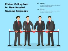 Ribbon Cutting Icon For New Hospital Opening Ceremony