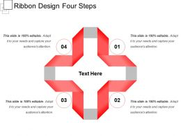 Ribbon Design Four Steps
