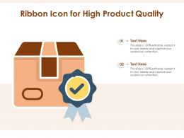 Ribbon Icon For High Product Quality