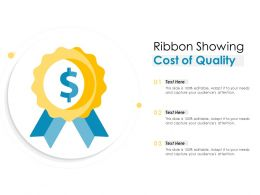 Ribbon Showing Cost Of Quality