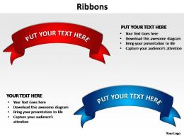 ribbons editable powerpoint slides templates