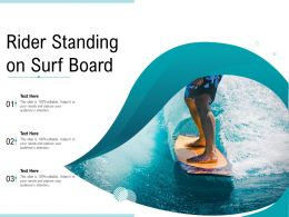 Rider Standing On Surf Board