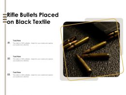 Rifle Bullets Placed On Black Textile