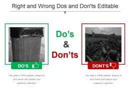 Right And Wrong Dos And Donts Editable Powerpoint Templates