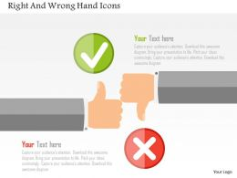 Right And Wrong Hand Icons Flat Powerpoint Design