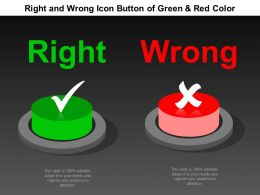 Right And Wrong Icon Button Of Green And Red Color