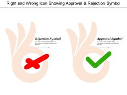 Right And Wrong Icon Showing Approval And Rejection Symbol