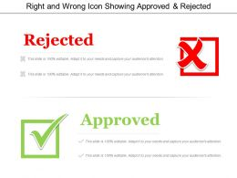 Right And Wrong Icon Showing Approved And Rejected
