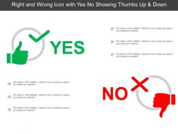 Right And Wrong Icon With Yes No Showing Thumbs Up And Down