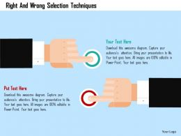 Right And Wrong Selection Techniques Flat Powerpoint Design