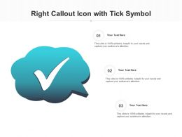 Right Callout Icon With Tick Symbol