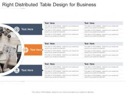 Right Distributed Table Design For Business Infographic Template