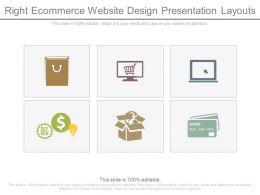 right ecommerce website design presentation layouts