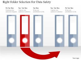 Right Folder Selection For Data Safety Flat Powerpoint Design