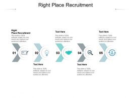Right Place Recruitment Ppt Powerpoint Presentation Icon Graphic Tips Cpb