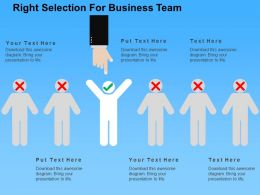 Right Selection For Business Team Flat Powerpoint Design