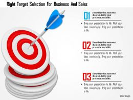 Right Target Selection For Business And Sales Image Graphics For Powerpoint