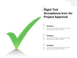 Right Tick Acceptance Icon For Project Approval