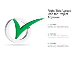 Right Tick Agreed Icon For Project Approval
