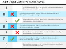 Right Wrong Chart For Business Agenda Flat Powerpoint Design