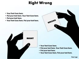 right wrong editable powerpoint slides templates