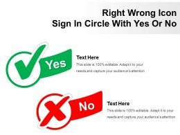 Right Wrong Icon Sign In Circle With Yes Or No