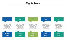 Rights Issue Ppt Powerpoint Presentation Summary Deck Cpb